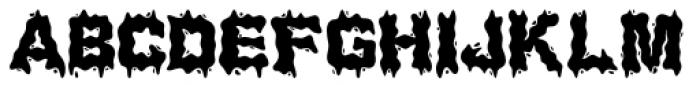 Water Splash Regular Font UPPERCASE