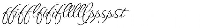 Waterfall Ligatures Font OTHER CHARS