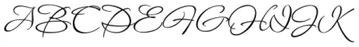 Waterfall Ligatures Font UPPERCASE