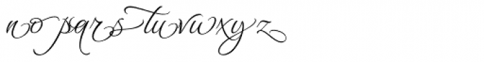 Waterfall Ligatures Font LOWERCASE