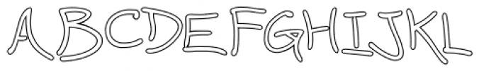 Wavy Gravy Open Font UPPERCASE