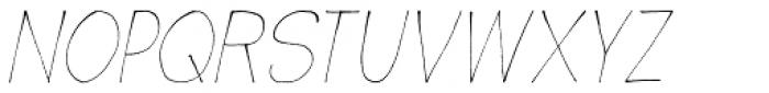 Wayang Italic Font UPPERCASE