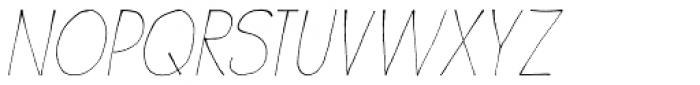 Wayang Italic Font LOWERCASE