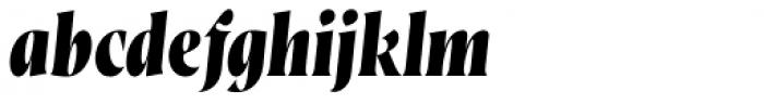 Wayfinder CF Extra Bold Italic Font LOWERCASE