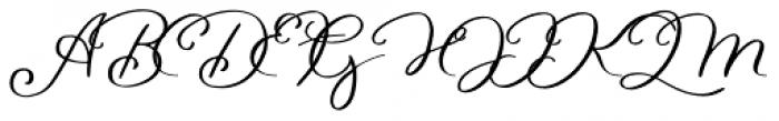 Waymar Script Font UPPERCASE