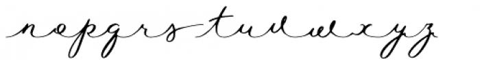 Waymar Script Font LOWERCASE