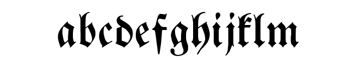 BreitkopfFrakturWF Font LOWERCASE