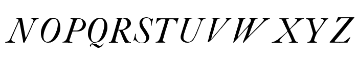 CaslonBookItalicWF Font UPPERCASE