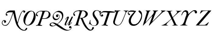 CaslonSwashItalicWF Font UPPERCASE
