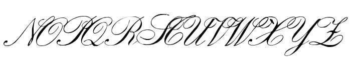 EnglishHandWF Font UPPERCASE