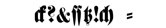 FetteHaenelFrakturWF Font OTHER CHARS