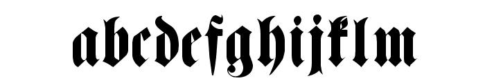 FetteHaenelFrakturWF Font LOWERCASE