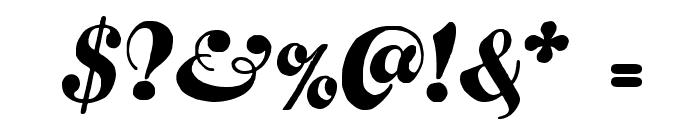 FustianScriptWF Font OTHER CHARS