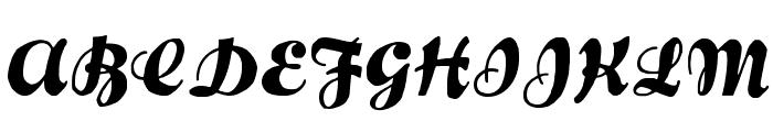 FustianScriptWF Font UPPERCASE