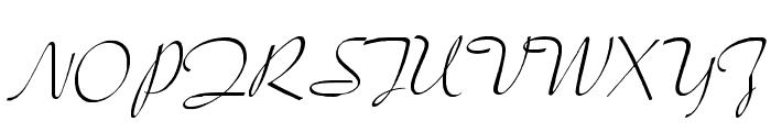 LacarScriptWF Font UPPERCASE