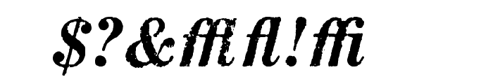 MatchwoodBoldItalicWF Font OTHER CHARS