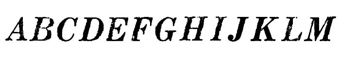 MatchwoodBoldItalicWF Font UPPERCASE