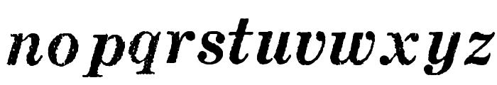 MatchwoodBoldItalicWF Font LOWERCASE