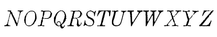 MatchwoodItalicWF Font UPPERCASE