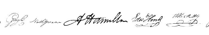 RevolutionaryWarHeroes Font UPPERCASE