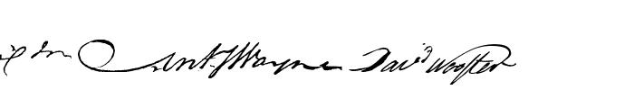 RevolutionaryWarHeroes Font LOWERCASE