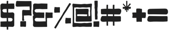WB Blazed Regular otf (400) Font OTHER CHARS