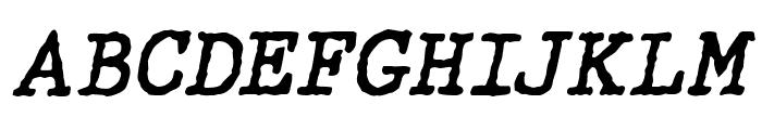 WBXGrannyT Italic Font UPPERCASE