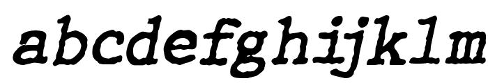 WBXGrannyT Italic Font LOWERCASE