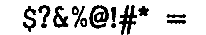 WBX_GrannyT2 Font OTHER CHARS