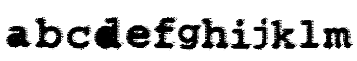 WBXflack Font LOWERCASE