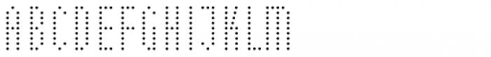 WBP Nel Regular Dots Font UPPERCASE
