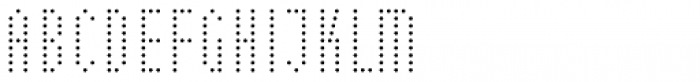 WBP Nel Regular Dots Font LOWERCASE