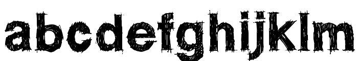 WC ROUGHTRAD Bta Font LOWERCASE