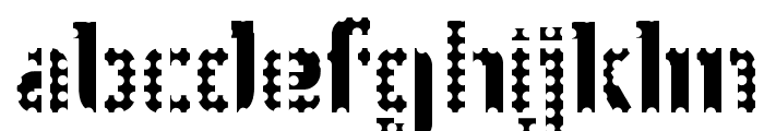 WC Wunderbach Perfo Bta  DemiBold Font LOWERCASE