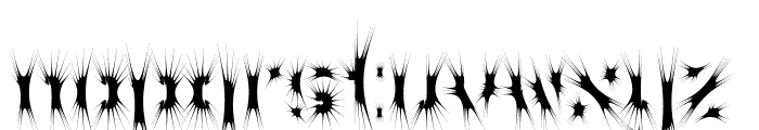 WC Wunderbach Spider Font LOWERCASE