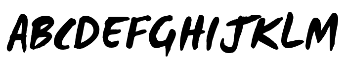 WCManoNegraBta-Bold Font UPPERCASE