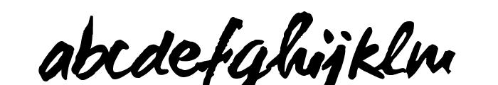 WCManoNegraBta-Bold Font LOWERCASE