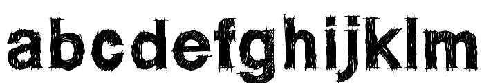 WCROUGHTRADBta Font LOWERCASE