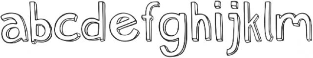 Weak otf (400) Font LOWERCASE