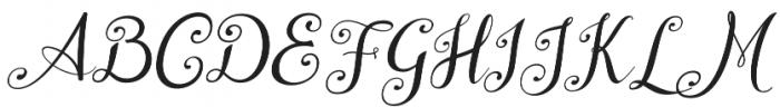 Wedding Font Italic otf (400) Font UPPERCASE
