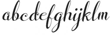 Wedding Font Italic otf (400) Font LOWERCASE