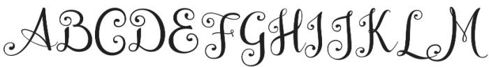 Wedding Font Regular otf (400) Font UPPERCASE