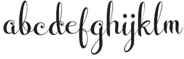 Wedding Font Regular otf (400) Font LOWERCASE