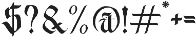 Wednesday Regular otf (400) Font OTHER CHARS