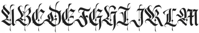 Wednesday Regular otf (400) Font UPPERCASE
