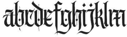 Wednesday Regular otf (400) Font LOWERCASE