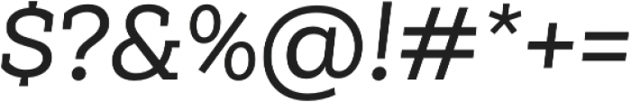 Weekly Alt Medium It otf (500) Font OTHER CHARS