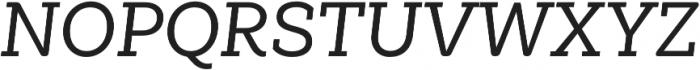 Weekly Alt Medium It otf (500) Font UPPERCASE
