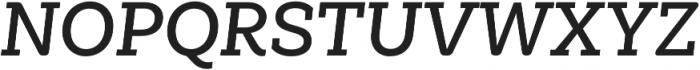 Weekly Alt SemiBold It otf (600) Font UPPERCASE