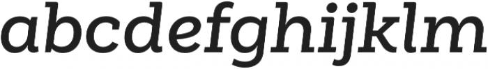 Weekly Alt SemiBold It otf (600) Font LOWERCASE